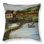 A Great Fishing Hole Throw Pillow