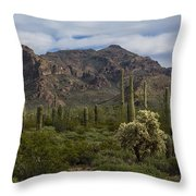 A Green Desert Forest  Throw Pillow