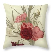 A Group Of Clove Carnations Throw Pillow