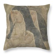 A Group Of Poor Clares Throw Pillow
