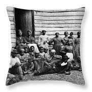 A Group Of Slaves Throw Pillow