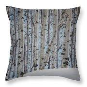 A Grove Of Aspens Throw Pillow
