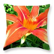 A Grrreat Tiger Lily Throw Pillow