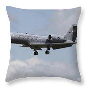 A Gulfstream C-20h Executive Transport Throw Pillow by Timm Ziegenthaler