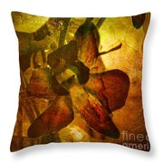 A Gust Of Gold Throw Pillow