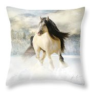 A Gypsy Winter Journey Throw Pillow