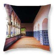 A Hall With History Throw Pillow