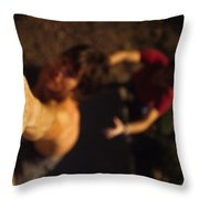 A Hand Catches A Hand Hold On A Boulder Throw Pillow