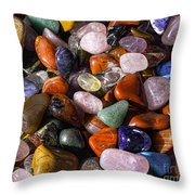 A Handfull Of Colors Throw Pillow