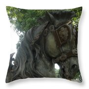 A Handsome Steed Throw Pillow