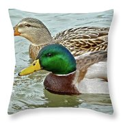 A Happy Couple Throw Pillow