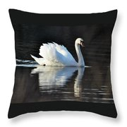 A Happy Swan Throw Pillow