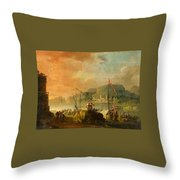 A Harbour View Throw Pillow