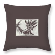 A Harlequin, The Devil Throw Pillow