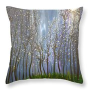 A Haunting Romance Throw Pillow
