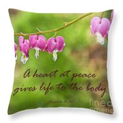 A Heart At Peace Throw Pillow