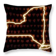 A Heart In New York Throw Pillow