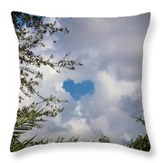 A Heart In The Sky Throw Pillow