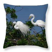 A Helping Beak Throw Pillow