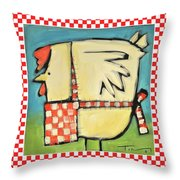 A Hen Is An Eggs Way Throw Pillow