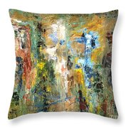 A Herd Of Five Throw Pillow