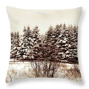 A Herd Of Trees Throw Pillow