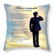 A Hero's Welcome - Air Force 1 Throw Pillow