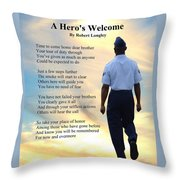 A Hero's Welcome - Air Force 2 Throw Pillow