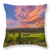 A High Dynamic Range Photo Of A Sunset Throw Pillow