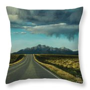 A Highway To The Rockies Throw Pillow