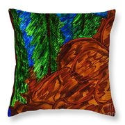 A Hike On A Park Trail Throw Pillow