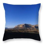 A Hiker Overlooks Tuckup Canyon Throw Pillow