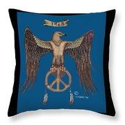 A Hippy Standard Throw Pillow
