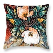 A Holiday Bouquet Throw Pillow