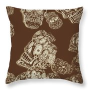 A Holiday Inversion  Throw Pillow