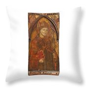 A Holy Bishop Throw Pillow