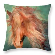 A Horse Called Copper Throw Pillow
