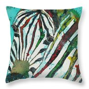 A Horse Of A Different Color Throw Pillow