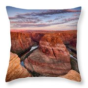 A Horseshoe Bend Morning  Throw Pillow