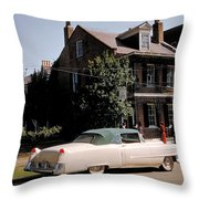 A Hot Date In A Pink Caddy Throw Pillow