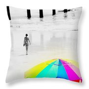 A Hot Summer Day Throw Pillow