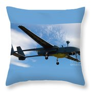 A Hunter Joint Tactical Unmanned Aerial Vehicle Throw Pillow