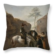 A Huntsman Throw Pillow