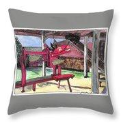 A I Farm Apple Squeeze Dragon Throw Pillow