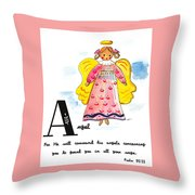 A Is For Angel Throw Pillow