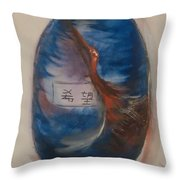 A Jar Of Hope Throw Pillow by Gregory Dallum