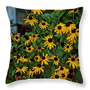A Jumble Of Yellow Throw Pillow