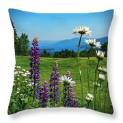 A June Day In Heaven Throw Pillow by Kendall McKernon