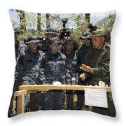 A Jungla From The Columbian National Throw Pillow