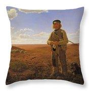 A Jutland Sheperd On The Moors Throw Pillow
